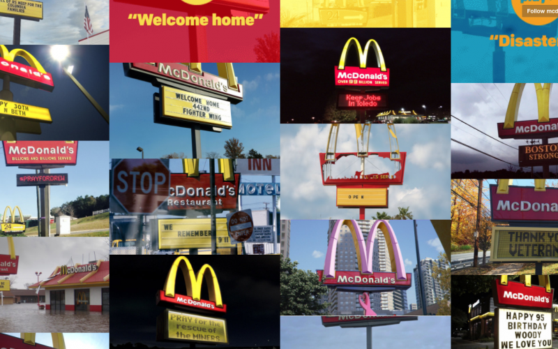McDonald's Tumblr Shows Local Signs