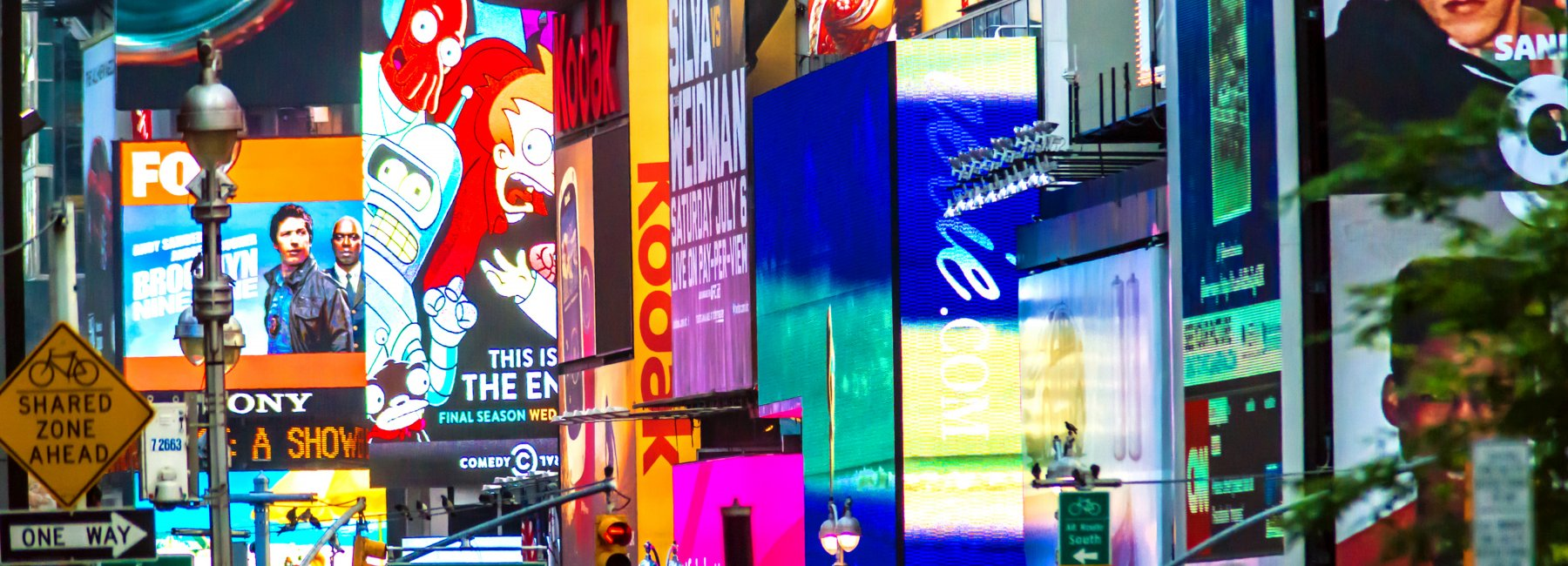 Times Square Is Great Illustrator of Marketing Overload